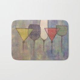 Floating Wineglasses Bath Mat