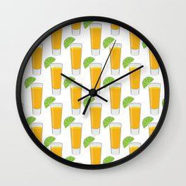 Tequila Shot Pattern Wall Clock