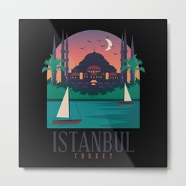 Istanbul Turkey City Design Metal Print