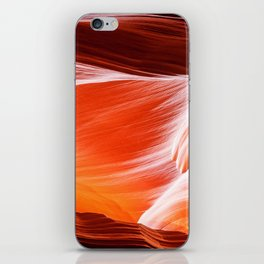 Sandstone abstract textures at Antelope Canyon iPhone Skin
