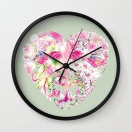 Blush Heart Wall Clock
