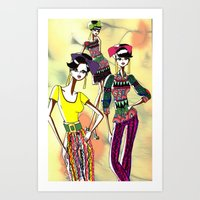 marc allante Art Prints featuring Marc Rendition2 by Ashley Love