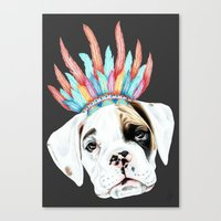 puppy Canvas Prints featuring Puppy by 13 Styx