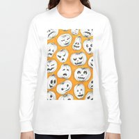 pumpkin Long Sleeve T-shirts featuring Pumpkin by Saoirse Mc Dermott
