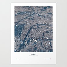 Paris - City Map II Art Print
