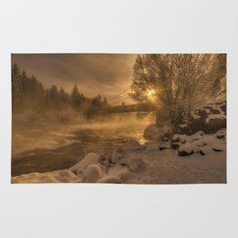 Frosty Riverside Rug