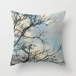 Scarred Skys Throw Pillow