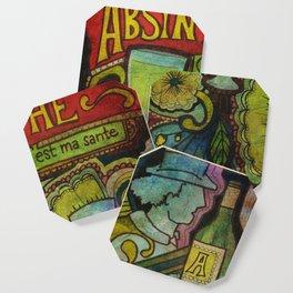 Absinthe Makes the Heart Grow Fonder Coaster