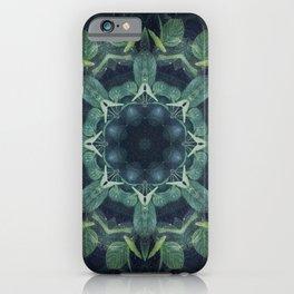 Mystical // Dark Green Plant Visionary Art Mandala Ayahuasca Sacred Geometry Psychedelic Trippy iPhone Case