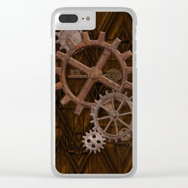 Comforts of Steampunk Clear iPhone Case