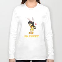 gemma correll Long Sleeve T-shirts featuring Gemma- So Sweet by Star Nation (Robby Dadson)