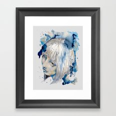 Nieves watercolor portrait by carographic Framed Art Print