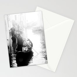 Gondoliers in Venice Stationery Cards