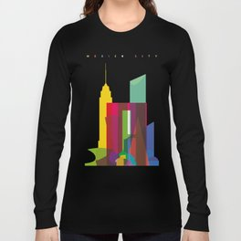 Shapes of Mexico City accurate to scale Long Sleeve T-shirt