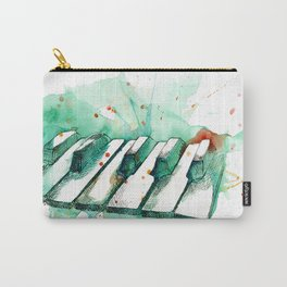 Watercolor Piano (Teal) Carry-All Pouch