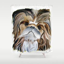 Pekingese Dog Love Dogs Shower Curtain
