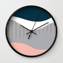 Colorful waves design Wall Clock