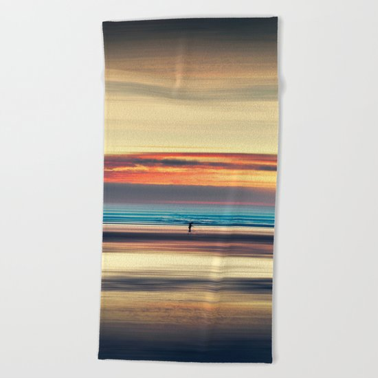 Along Memory Lines - Abstract Seascape Beach Towel