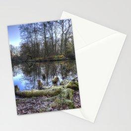 Frosty Morning Pond Stationery Cards