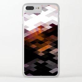 Purple Diamonds Clear iPhone Case