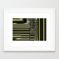 industrial Framed Art Prints featuring Industrial by inkedsandra