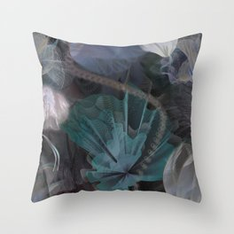 moody flowers Throw Pillow
