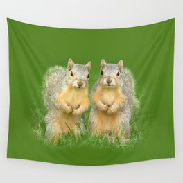 Squirrels-Brothers Wall Tapestry