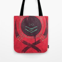 dead space Tote Bags featuring Dead Space by Hector Mansilla