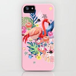 Famingo Love iPhone Case