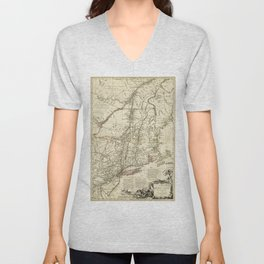 American Revolutionary War Map (1782) Unisex V-Neck
