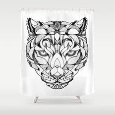 Leopard - Drawing Shower Curtain