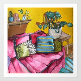 CAT'S LIVINGROOM Art Print