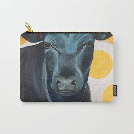 Blue Cow Yellow Dots Carry-All Pouch