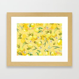 Watercolor lemons 5 Framed Art Print