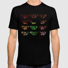 Butterflies - Digital Work Mens Fitted Tee Black MEDIUM