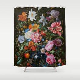 Vase of Flowers II Jan Davidsz de Heem Shower Curtain