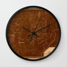 Map Of Georgia 1864 Wall Clock