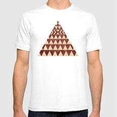 Vintage Material Triangles SMALL Mens Fitted Tee White