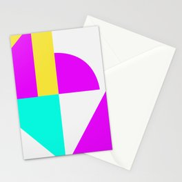 Mondrian style vivid colors high resolution fine art for home decor. Stationery Cards