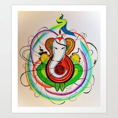 Atomic Ganesha Art Print