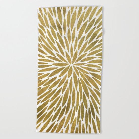 Golden Burst Beach Towel