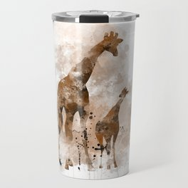Giraffe and Baby Travel Mug