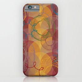 Vintage Spirals iPhone Case