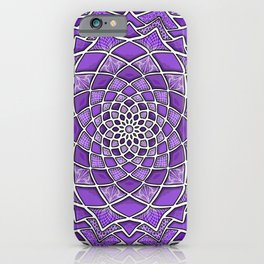 12-Fold Mandala Flower in Purple iPhone Case