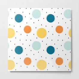 cute colorful pattern with grunge circle shapes Metal Print