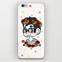 klaine iPhone & iPod Skins featuring Flowers by Sunshunes