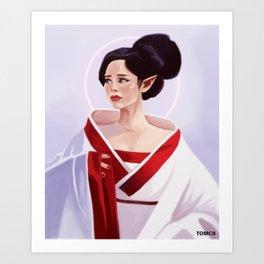 Elf Lady Painting Art Print