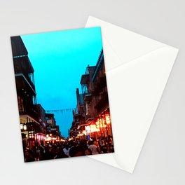 New Orleans Bourbon Street Dusk Stationery Cards