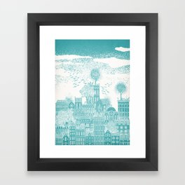 Earth Celestial City Framed Art Print