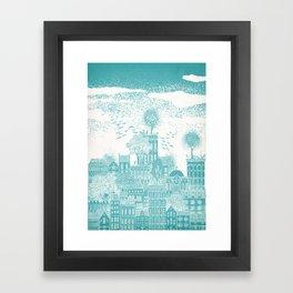 Earth Celestial City Framed Art Print